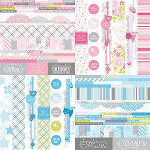 """Picture of Baby Bundle by Katie Pertiet 2"""" Border Strips - Set 12"""